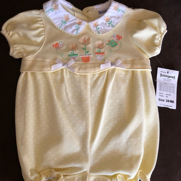 Infant Boys 0ne Piece 3-6m Buster Brown NWT